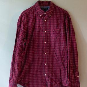BANANA REPUBLIC- Gingham Button Down Shirt